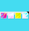 set of expressive colorful backgrounds vector image vector image