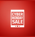 tablet pc with cyber monday sale text on screen vector image vector image