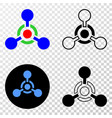 toxic nerve agent eps icon with contour vector image vector image