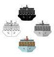 transportation goods sea transportation and vector image vector image