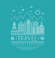 travel poster design template vector image vector image