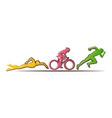 triathlon flat design vector image vector image