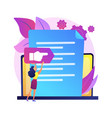 vision and scope document abstract concept vector image vector image