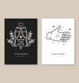 wedding invitation card template thin line vector image