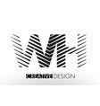 wh w h lines letter design with creative elegant vector image vector image