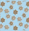 winter snowflake cookie pattern cute brown vector image vector image