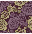 seamless vintage flower rose pattern vector image