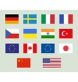 Set of european union usa ukraine china japan vector image