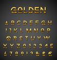 Golden alphabet set vector image