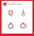 4 diamond icons vector image vector image