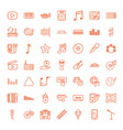 49 music icons vector image vector image