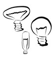 a set of light bulbs vector image