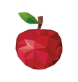 abstract apple fruit icon vector image vector image
