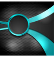 abstract waves and circle on dark perforated vector image vector image