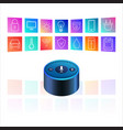 amazon echo dot on white background smart speaker vector image vector image