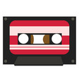 an old cassette used for playing music color vector image