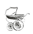 baby carriage sketch hand drawn vector image