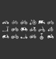 bike icon set grey vector image
