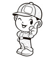 black and white soldier mascot front instruction vector image vector image