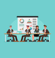 business people meeting on table vector image