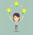 businesswoman showing she has an idea vector image vector image
