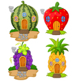 cartoon variety of home fruit vector image vector image