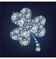 Clover made a lot of diamonds vector image vector image
