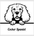 cocker spaniel - peeking dogs - - breed face head vector image vector image