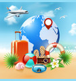 colored summer holidays realistic composition vector image vector image