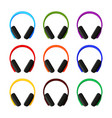 colorful cartoon headphones collection vector image vector image