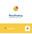 creative pie chart logo design flat color logo vector image vector image