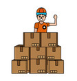 delivery service cartoon vector image vector image