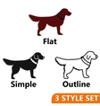 Dog icons set vector image vector image