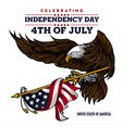 eagle for usa happy independence day 4 th vector image vector image