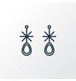 earring icon line symbol premium quality isolated vector image vector image