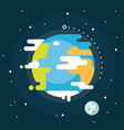 earth planet in space vector image vector image