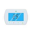 electronic thermostat with a screen under floor vector image vector image