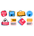 employee benefits labels announcement for new vector image