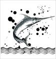 fish print fish print black drawing sun sea vector image vector image