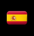 flag of spain matted icon and button vector image vector image