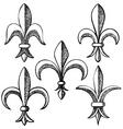 Fleur de Lis symbols vector image