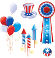 Fourth of July symbols vector image vector image
