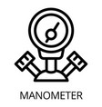 gas welder manometer icon outline style vector image