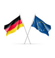 germany and european union waving flags vector image