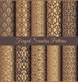 golden patterns forged vintage design vector image vector image