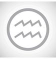 Grey aquarius sign icon vector image vector image