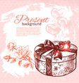 Hand drawn vintage present background