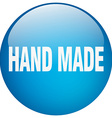 hand made blue round gel isolated push button vector image vector image