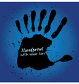 Handprint with seven fingers vector image