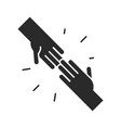 hands supporting community and partnership vector image vector image